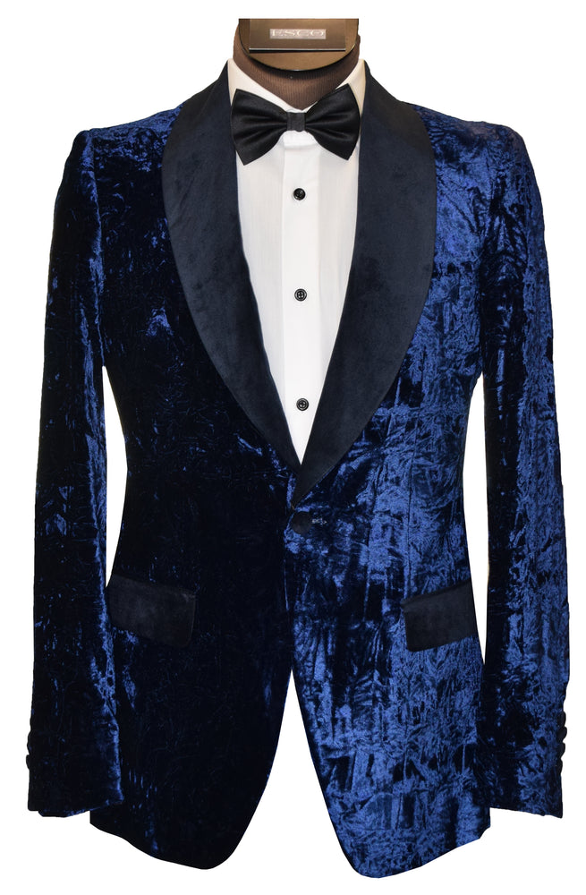 SOUL OF LONDON TUXEDO JACKET- ROYAL BLUE
