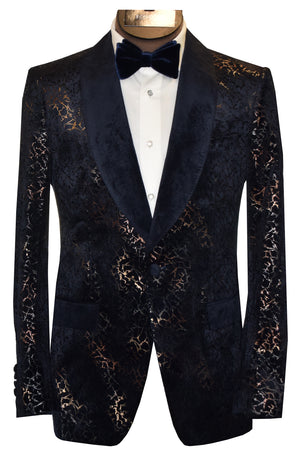 SOUL OF LONDON TUXEDO JACKET- NAVY