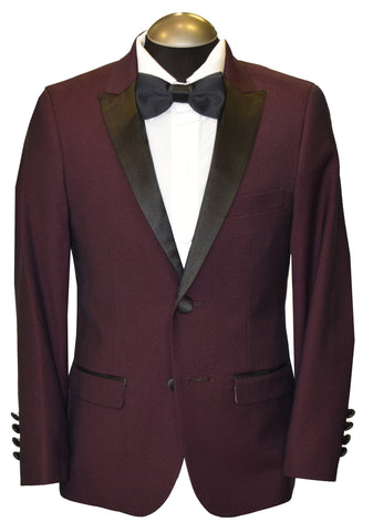 SOUL OF LONDON 2PIECE BOY TUXEDO- BURGUNDY