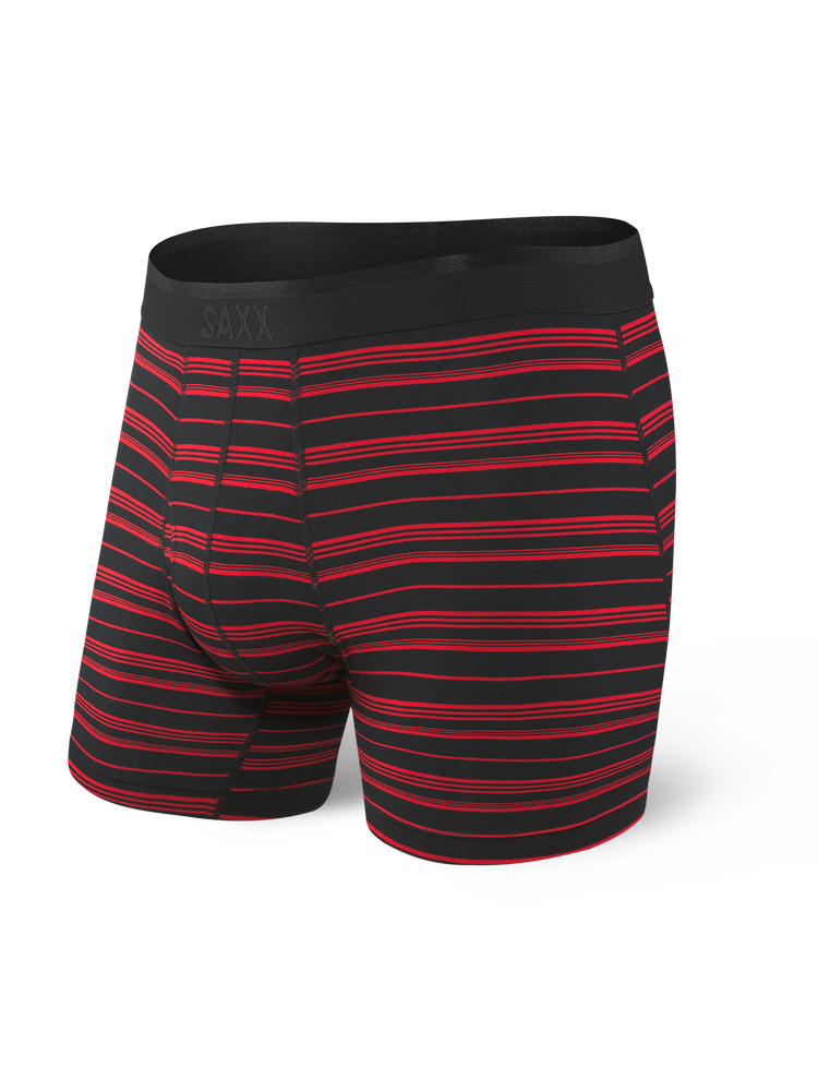 SAXX PLATINUM BOXER BRIEF- RED STRIPE