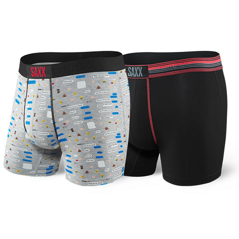SAXX VIBE BOXER 2 PACK- TEXT BUBBLE