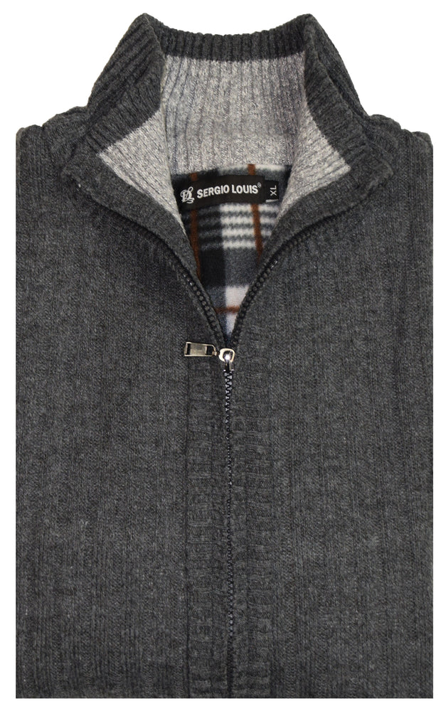 SERGIO LOUIS MOCK NECK SWEATER- CHARCOAL