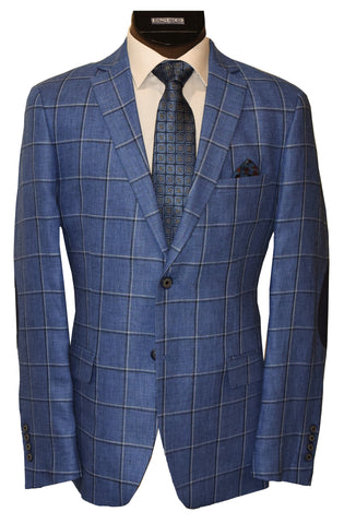 TALLIA LINEN SPORT JACKET-BLUE MIX