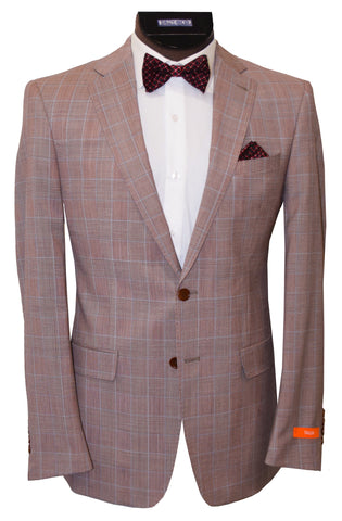 TALLIA 2 PIECE SUIT- BRICK/WHITE
