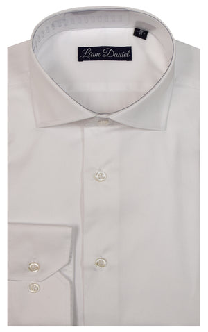 LIAM DANIEL DRESS SHIRT- WHITE