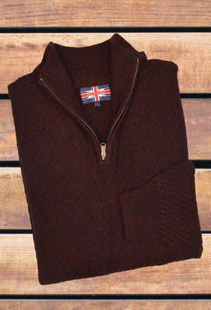 SOUL OF LONDON MOCK ZIP SWEATER