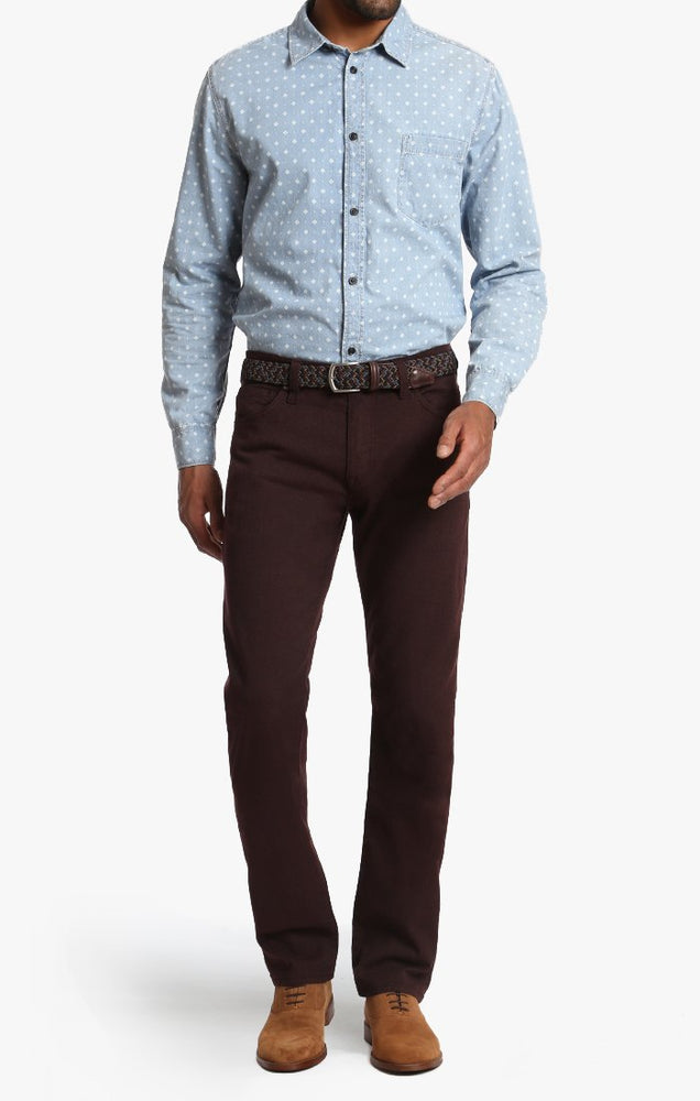 34 HERITAGE COURAGE FIT-BURGUNDY TEXTURED TWEED
