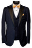 CALVARESI TUXEDO- NAVY WITH BLACK LAPEL