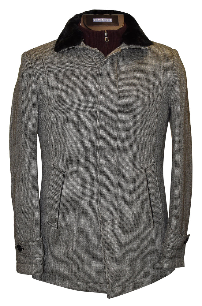 MELTON COAT SOSC192404(219) GREY S
