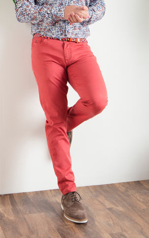 7 DOWNIE ST. LONDON PANT-CRIMSON RED