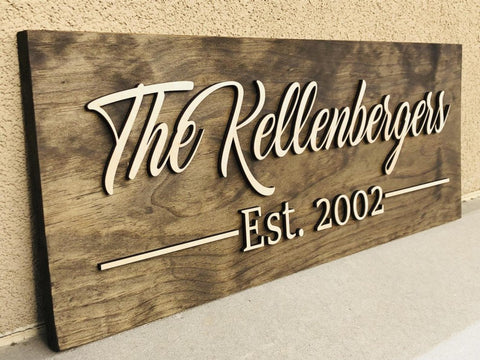 CUSTOM LASERCUT 3D PLANK SIGN