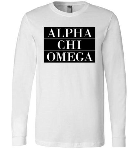 Alpha Chi Omega Bar Long Sleeve