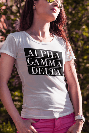 Alpha Gamma Delta Bar Ladies Tee