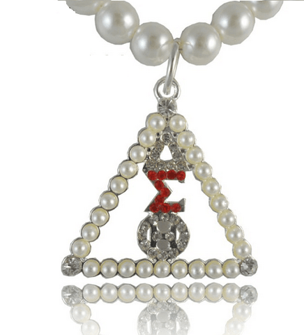 Delta Sigma Theta Pearl Necklace