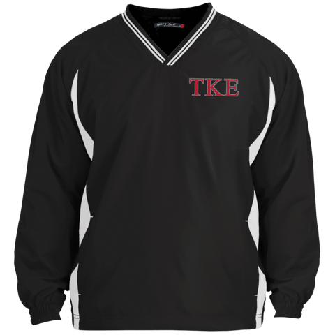 Tau Kappa Epsilon  Tipped VNeck Wind Shirt