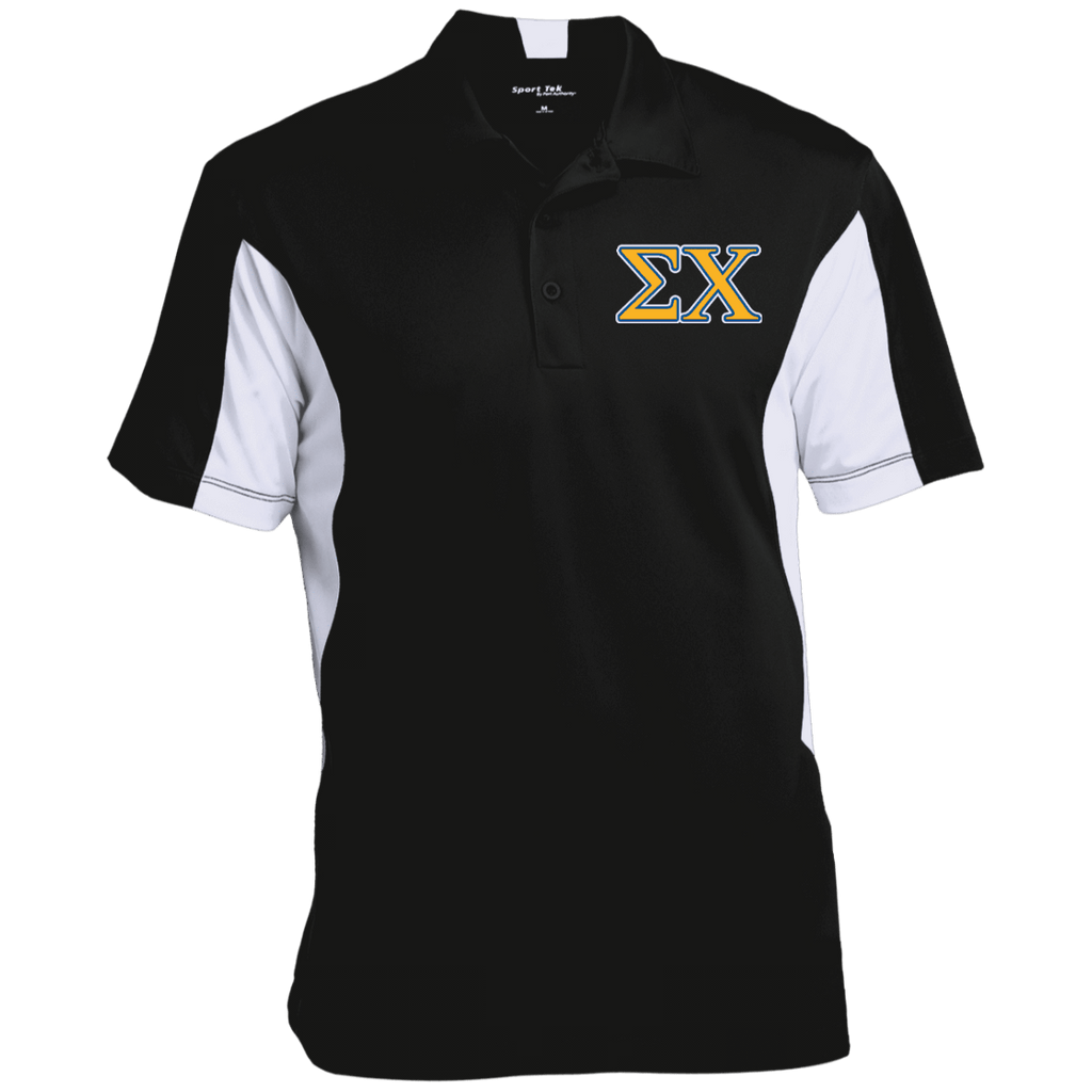Sigma Chi Colorblock Performance Polo