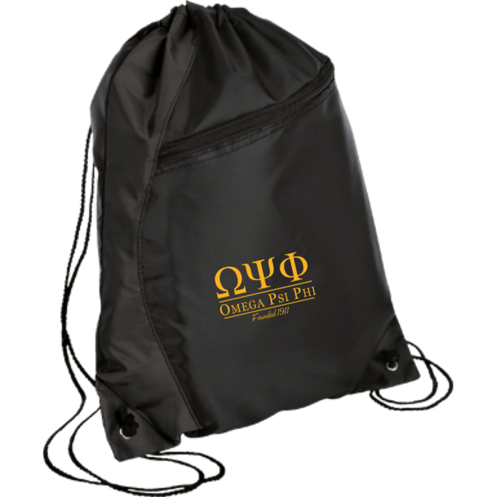 Omega Psi Phi Colorblock Cinch Pack