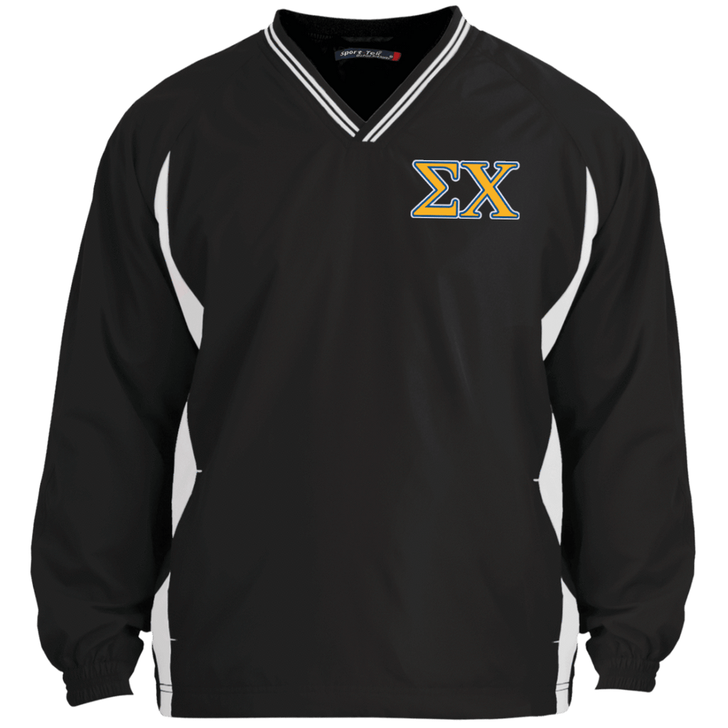 Sigma Chi Tipped VNeck Wind Shirt