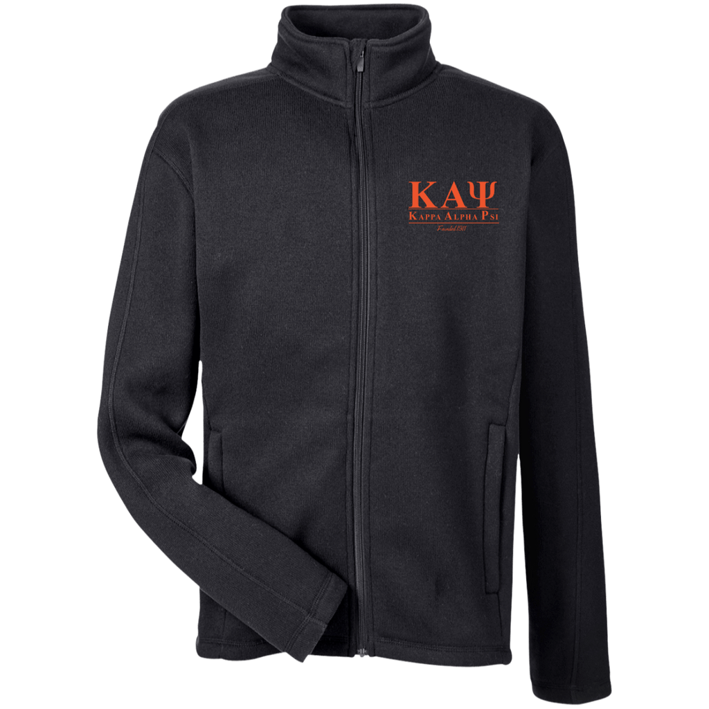 Kappa Alpha Psi Men's Full Zip Sweater Fleece