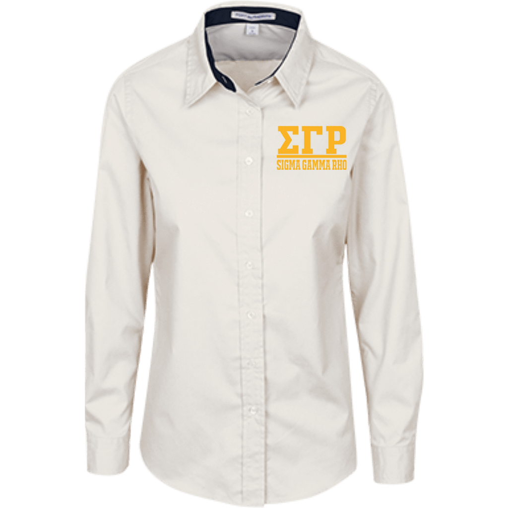 Sigma Gamma Rho Ladies Customized Long Sleeve Blouse