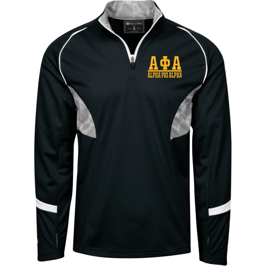 Alpha Phi Alpha 1/4 Zip Polyester Pullover with Camo Inserts
