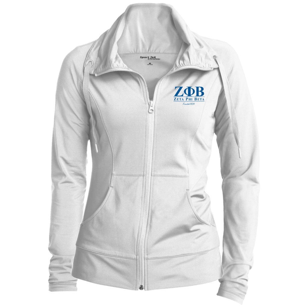 Zeta Phi Beta Womens Customized Stretch Full-Zip Jacket