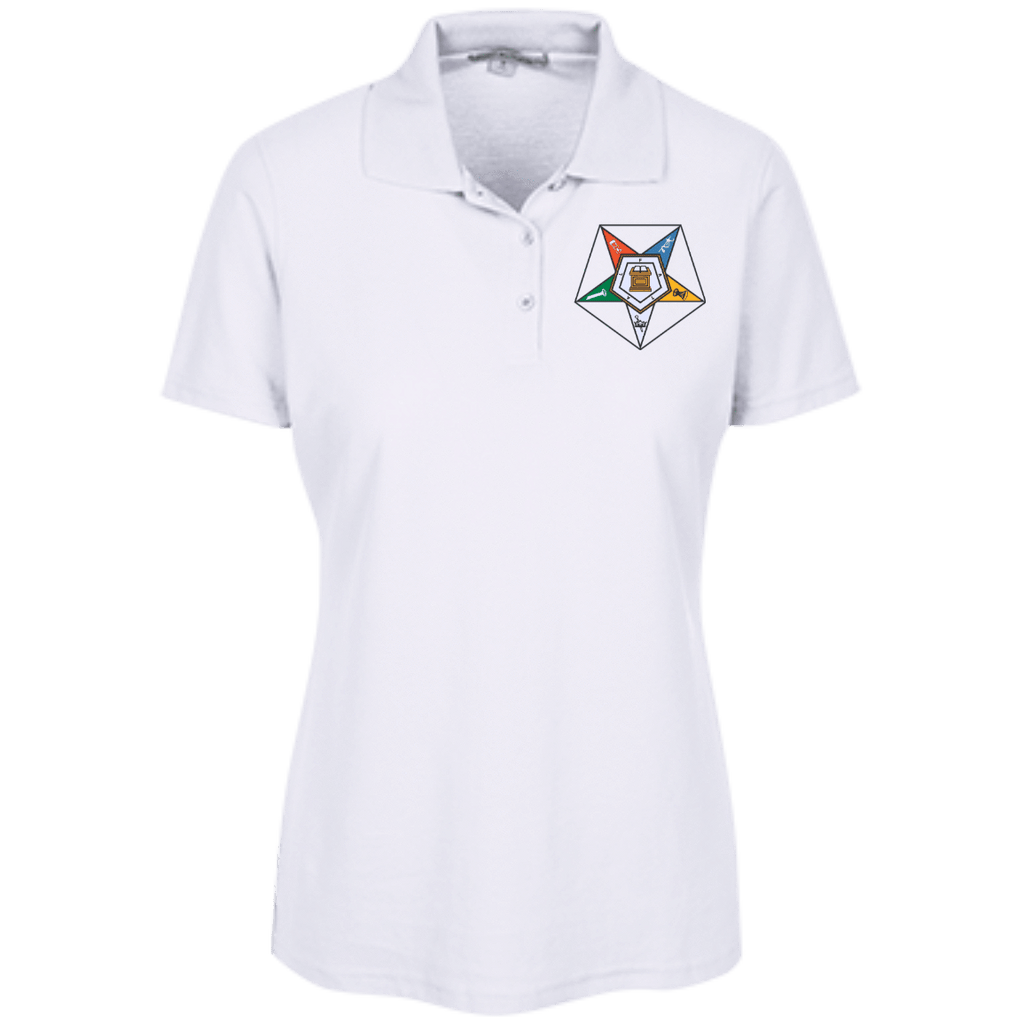 Order Of The Eastern Star Embroidered Stain Resistant Sport Shirt