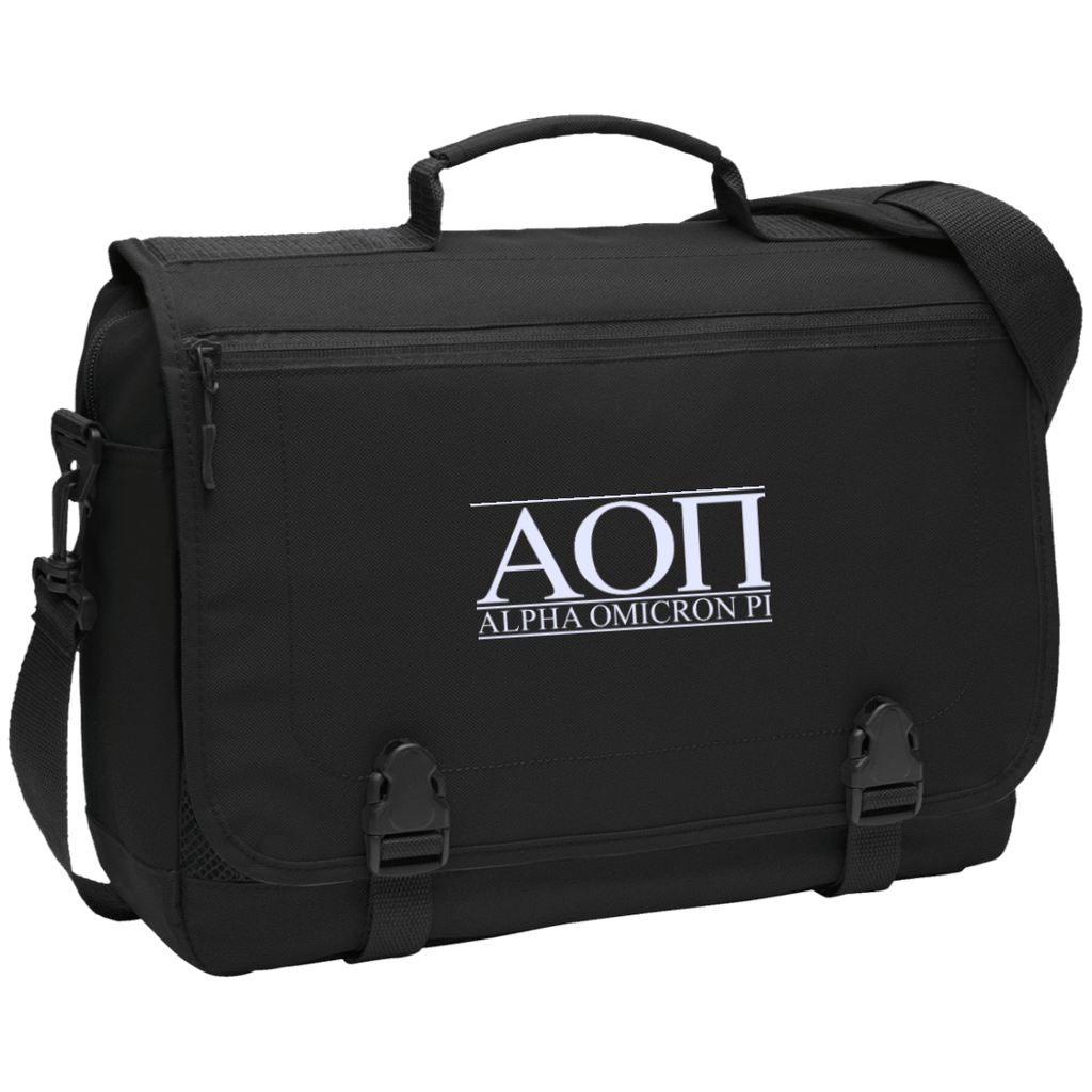 Alpha Omicron Pi Messenger Briefcase