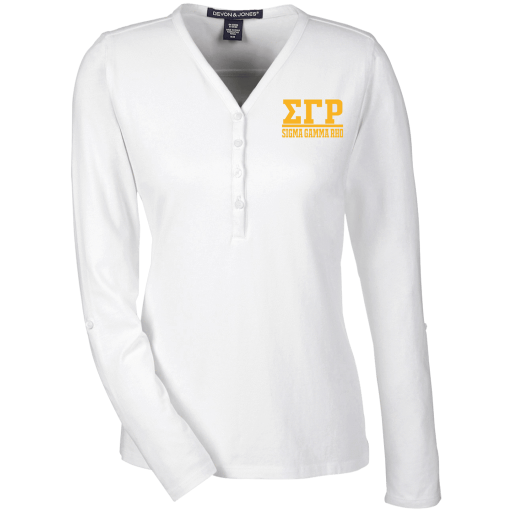 Sigma Gamma Rho Ladies' Henley Knit Top