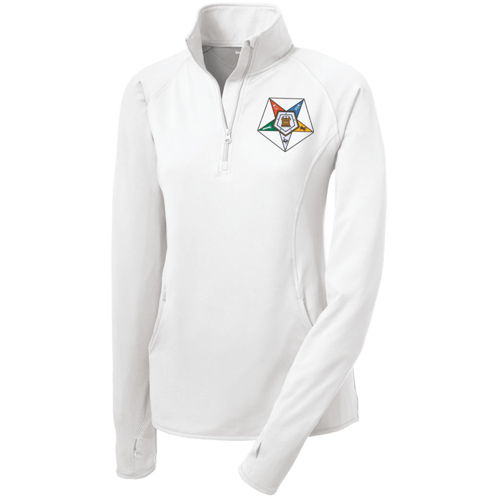 Order Of The Eastern Star Half Zip Performance Pullover