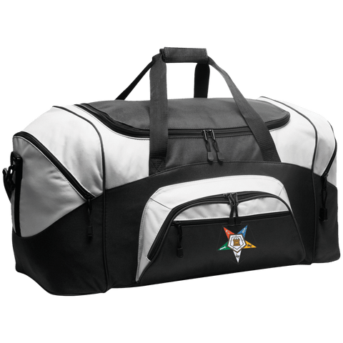 Order Of The Eastern Star Colorblock Sport Duffel