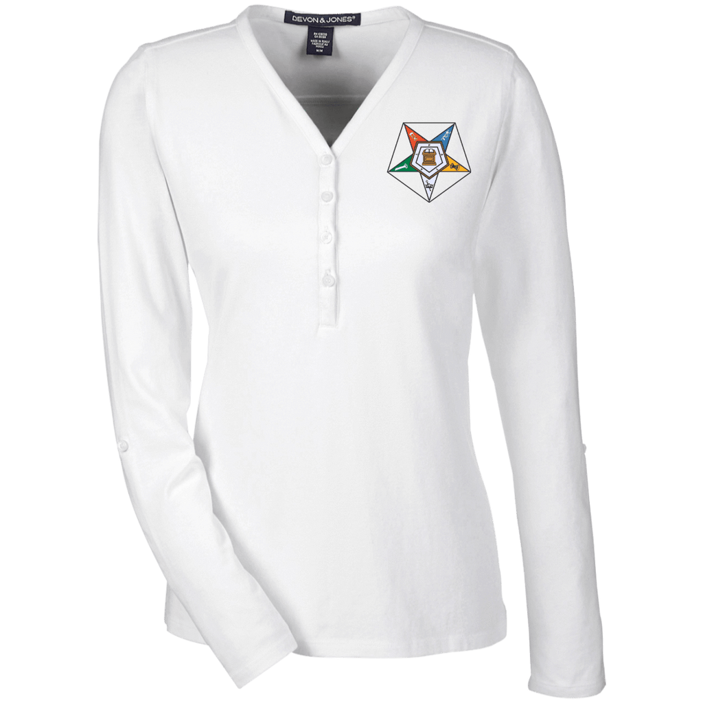 Order Of The Eastern Star Henley Knit Top