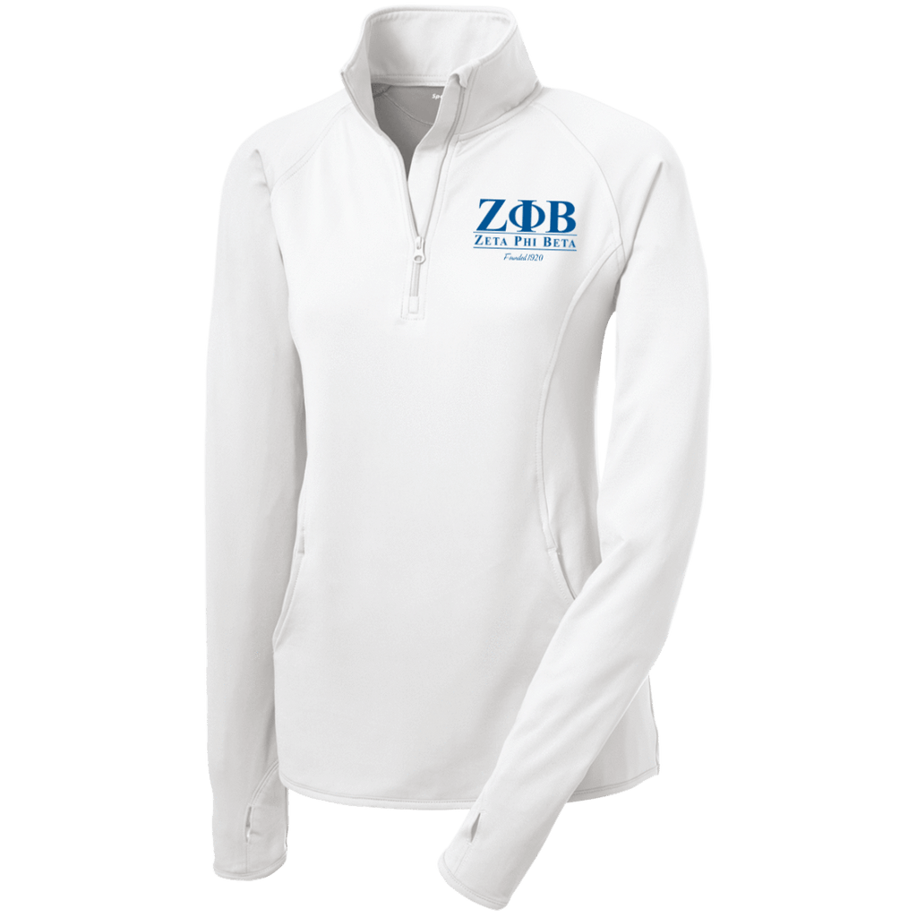Zeta Phi Beta Women's Half Zip Performance Pullover