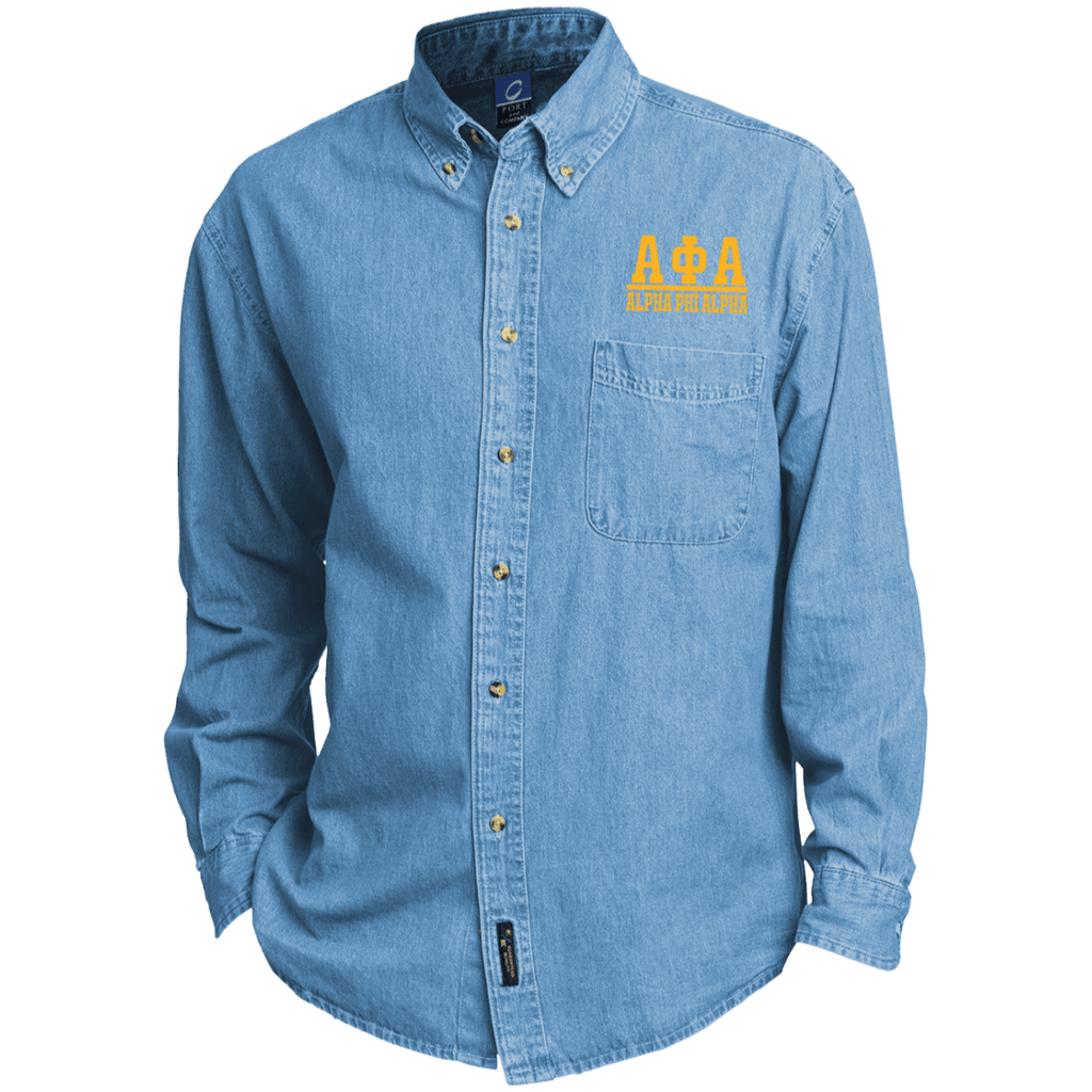 Alpha Phi Alpha Long Sleeve Denim Shirt