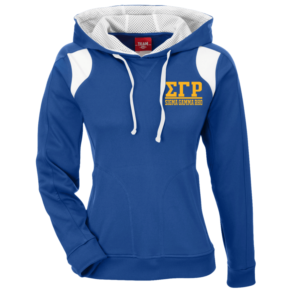 Sigma Gamma Rho Team 365 Ladies' Colorblock Poly Hoodie