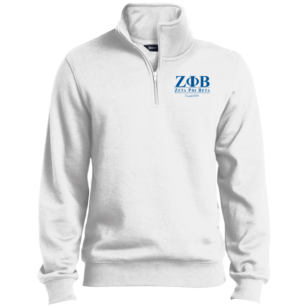 Zeta Phi Beta Quarter-Zip Embroidered Sweatshirt