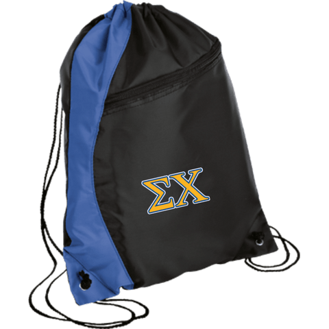 Sigma Chi Colorblock Cinch Pack