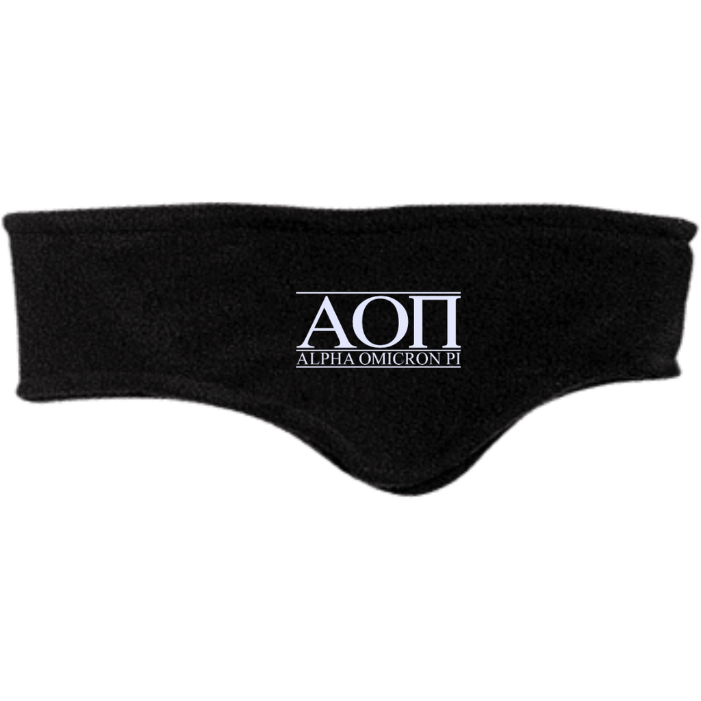 Alpha Omicron Pi Fleece Headband