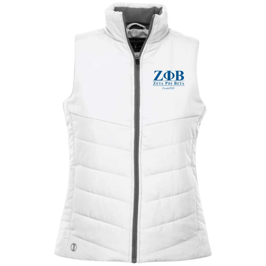 Zeta Phi Beta Ladies Quilted Vest