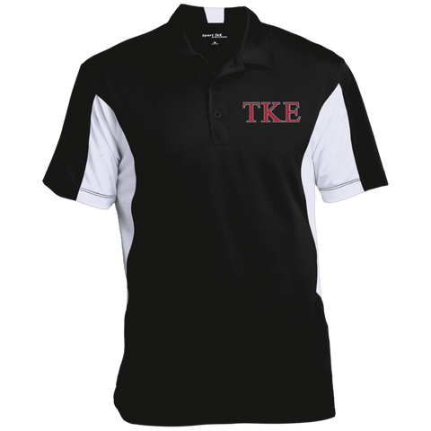 Tau Kappa Epsilon Colorblock Performance Polo