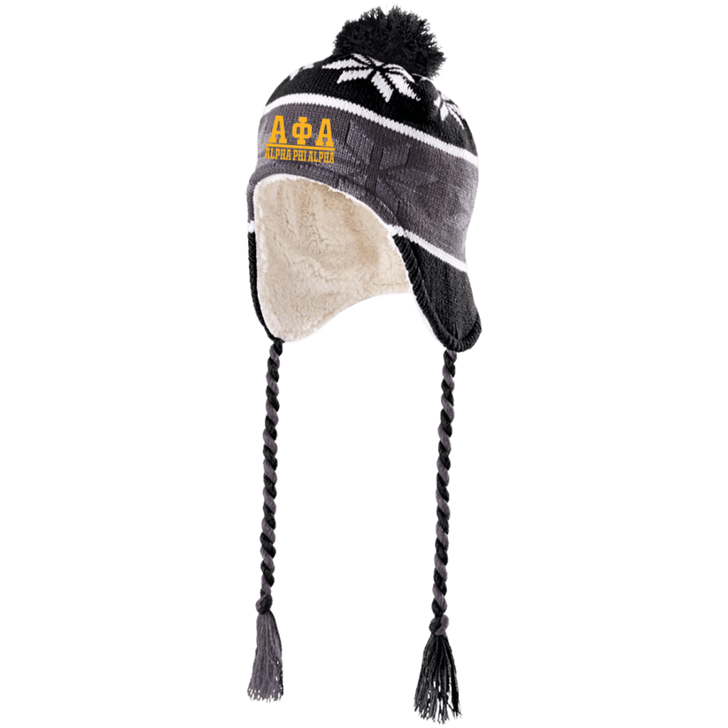 Alpha Phi Alpha Hat with Ear Flaps and Braids