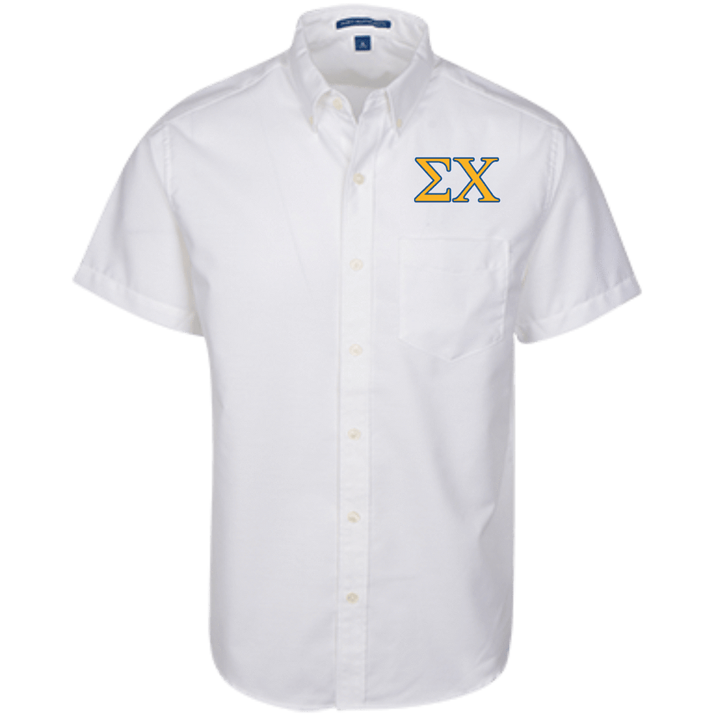 Sigma Chi Short Sleeve Oxford Shirt