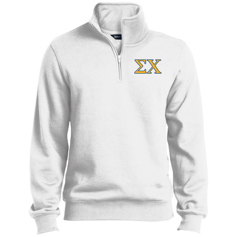 Sigma Chi Quarter-Zip Embroidered Sweatshirt