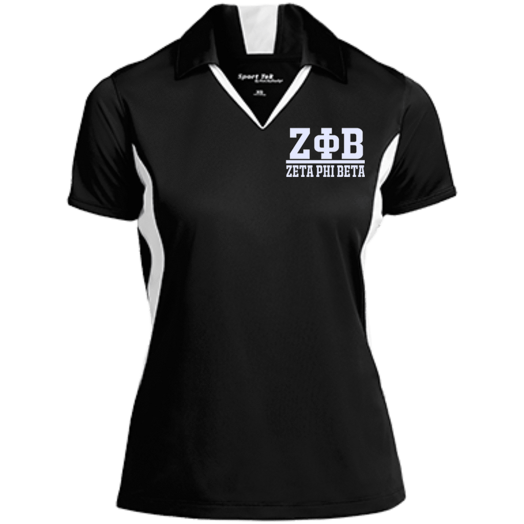 Zeta Phi Beta Ladies Colorblock Performance Polo