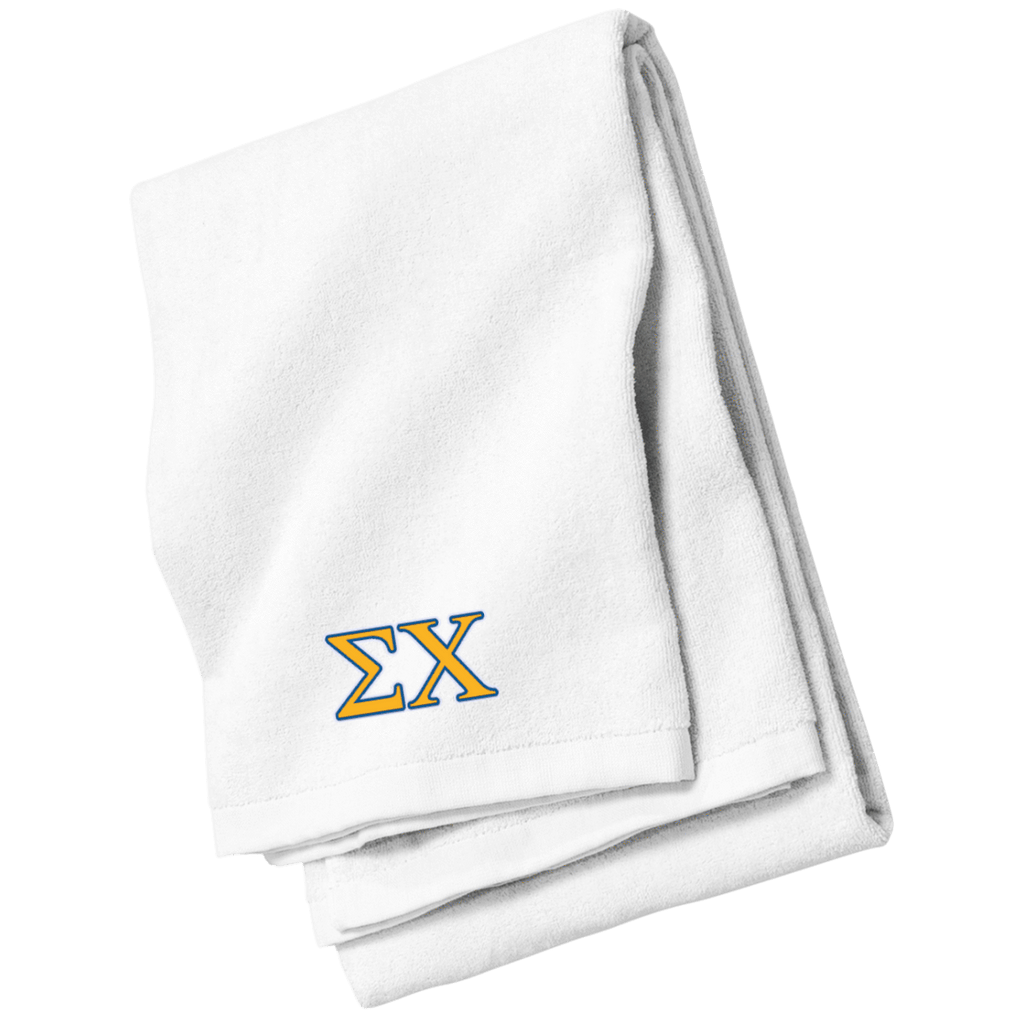 Sigma Chi Embroidered Beach Towel