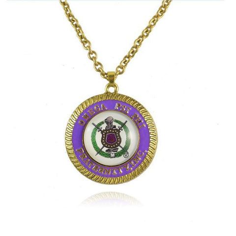 Omega Psi Phi Gold Chain Necklace