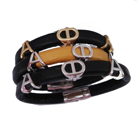 Alpha Phi Alpha Leather Bracelet