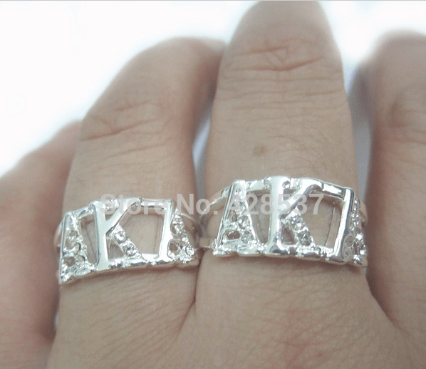 Alpha Kappa Alpha Sterling Silver Ring
