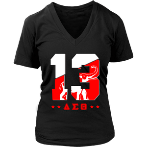 Delta Sigma Theta Founding Year District Womens V-Neck