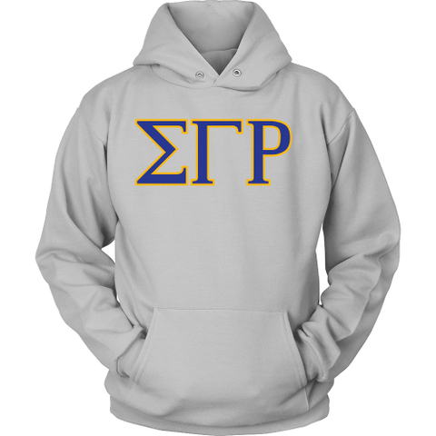 Sigma Gamma Rho Lettered Hoodie